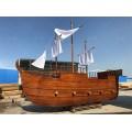 武漢景觀木船廠出售大型戶外海盜船裝飾船