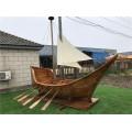 山西裝飾木船廠出售大型戶外海盜船景觀船
