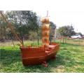陜西海盜木船廠出售大型室內主題裝飾船戶外景觀船