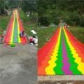 投資七彩滑道需要多少錢 廠家定制景區彩虹滑道