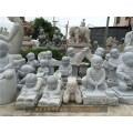 遂宁清名家寿山石雕十八罗汉瓷雕塑小和尚石雕小和尚图片