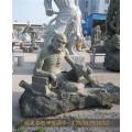 项城大型伏虎罗汉石雕练功的小和尚石雕