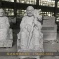泰安户外十八罗汉玉石雕刻图片可爱小沙弥石雕组件