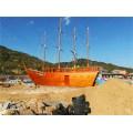 大型仿古木船一比一复制鸟船福船出售