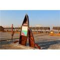 延安木船厂出售大型仿古木船 景观装饰船 海盗船