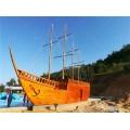 浙江木船厂出售仿古战船海盗木船景观装饰船