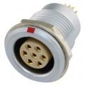 沿溪連接器7芯母座航空接插件線束信號傳輸采集器工業設備連接口