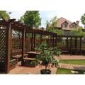 青島卓達芬蘭木私家別墅花園防腐木涼亭花架葡萄架木棧道欄桿