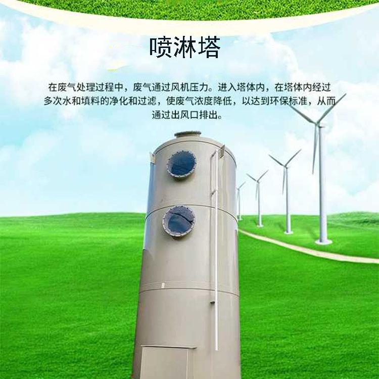 3000风量工业除臭降温喷淋塔 pp喷淋塔废气处理