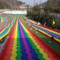 河南七彩滑道生产厂家四季彩虹滑道多少钱