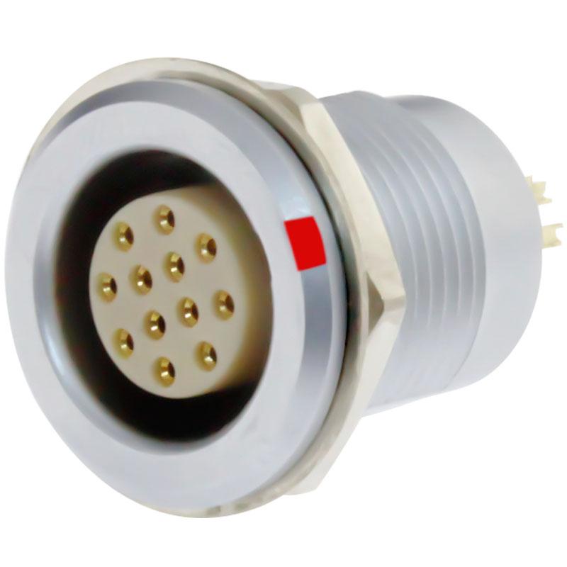 沿溪连接器12芯母座航空接插件线束信号采集器工业设备连接口
