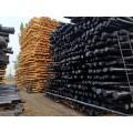 油木杆 防腐油木杆 油炸杆 油木电线杆 横木 通信油木杆