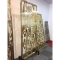 整块铝板镂空屏风 铝合金仿铜屏风图片