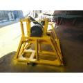 铁路张力线盘架 铁路轨道平板小车拖动式液压张力放线架