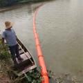 水生植物拦污带油污拦截浮排施工安装