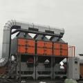 嘉興橡膠廠廢氣吸附脫附燃燒設備RCO催化燃燒設備連接細節展示
