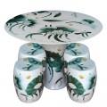 景德鎮陶瓷桌凳套裝 庭院花鳥瓷桌圓桌