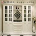 现货供应20极简玻璃门框铝材 全铝家具 铝合金酒柜定制
