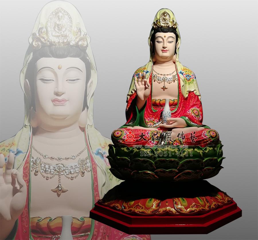 观世音菩萨,铜雕彩绘菩萨像