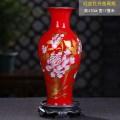 中國紅陶瓷花瓶工藝品瓷器小花瓶