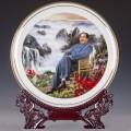 景德鎮中式陶瓷紀念盤定制加字