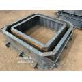 齐河县河道治理样板工程使用平铺式生态框护坡模具