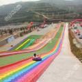 网红彩虹滑梯项目乐之翼游乐设备厂家直销彩虹七彩滑道户外景区