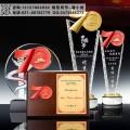 空军部队70周年纪念品 水晶纪念盘批发厂家 水晶建国奖杯