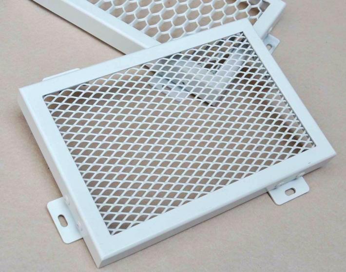 金属网状拉伸铝网板 网格天花吊顶 菱形铝拉网 菱形拉网铝单板