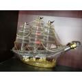 大帆船造型玻璃酒瓶xo海盜船玻璃工藝酒瓶個性玻璃洋酒瓶