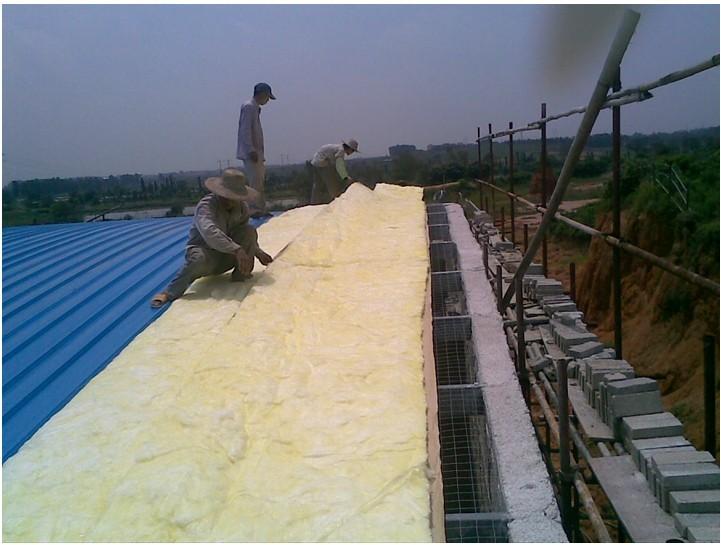 宜丰县工厂厂房隔热玻璃棉卷材
