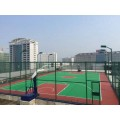 廣西硅PU球場地膠供應籃球場鋪裝學校球場橡膠運動場地
