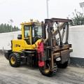 新型多功能裝載式公路護欄打樁機 液壓振動護欄打樁機廠家現貨