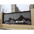 售楼部山形不锈钢背景墙 酒店大堂装饰金属屏风隔断